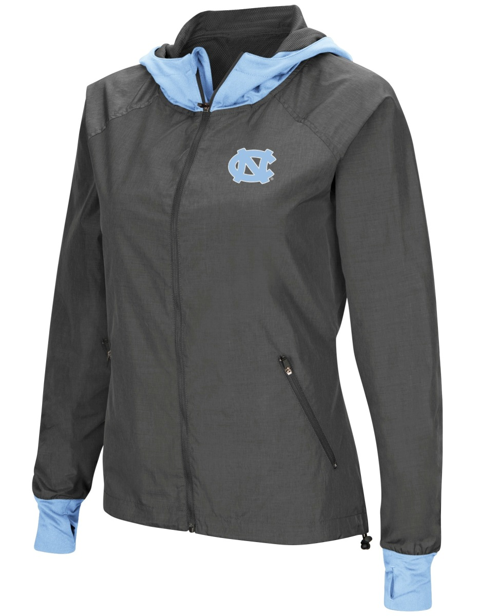 "North Carolina Tarheels NCAA Women's ""Backside"" Full Zip Hooded Charcoal Jacket by Colosseum"