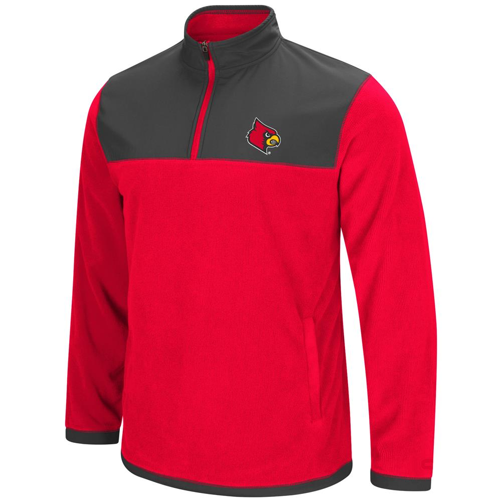 Louisville Cardinals Men's Full Zip Fleece Jacket by Colosseum