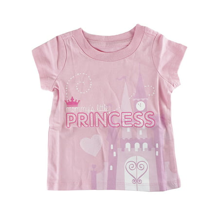 "Disney Store Baby Girls ""Mommy's Little Princess"" Short Sleeve T-Shirt, Pink"