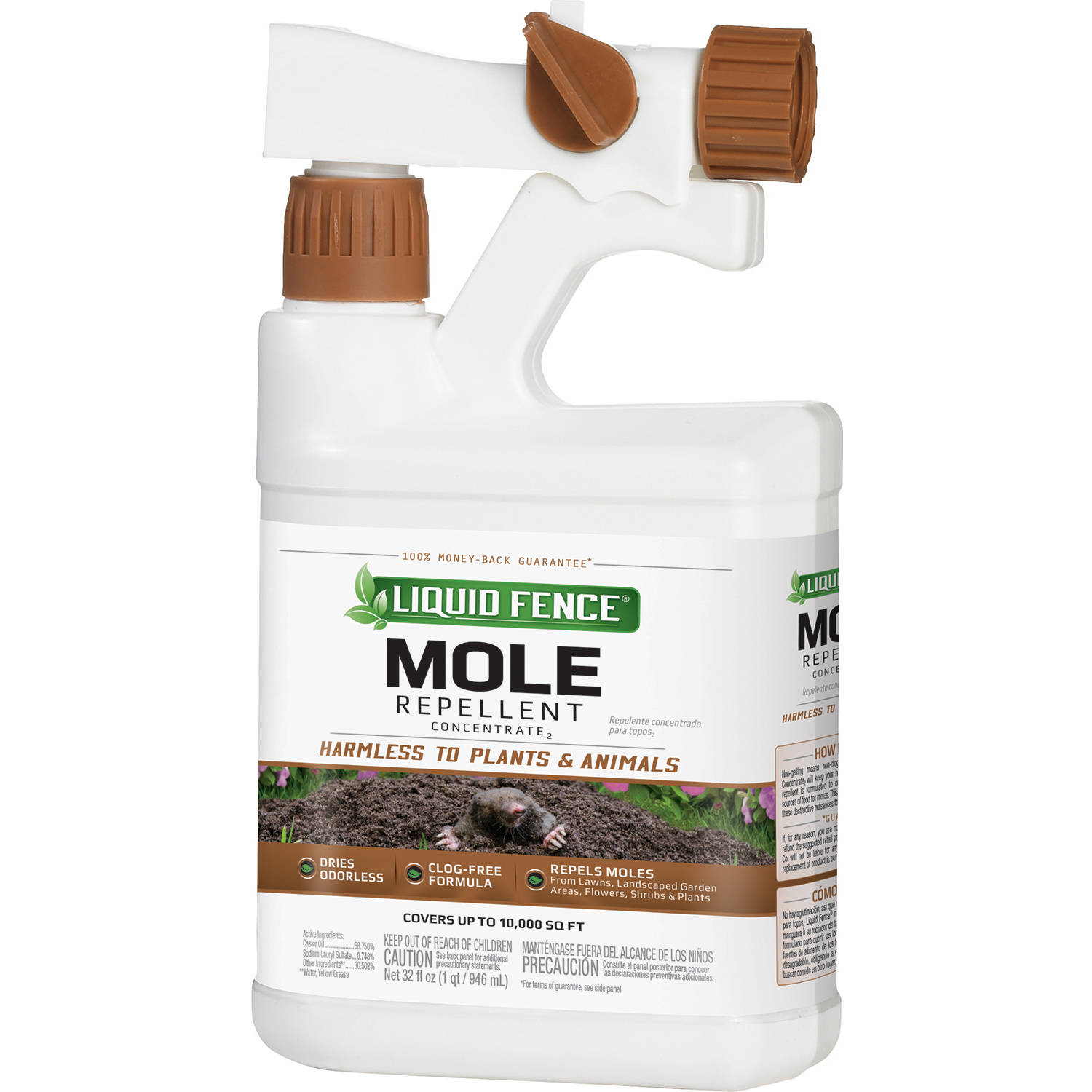 Liquid Fence Mole Repellent Ready-to-Spray, 32 oz