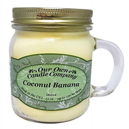 Coconut Banana Scented 13 Ounce Mason Jar Candle By Our Own Candle (Company Coconut)
