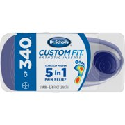 Dr. Scholl's Custom Fit CF340 Orthotic Shoe Inserts for Foot, Knee and Lower Back Relief, 1 Pair