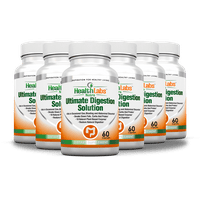 All Natural Digestive Enzymes for Irritable Bowel Syndrome Now with Resveratrol, Aloe and Senna (Pack of 3)