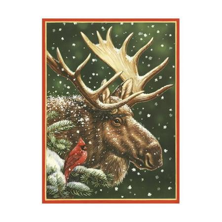 Winter Moose Print Wall Art By William Vanderdasson ()
