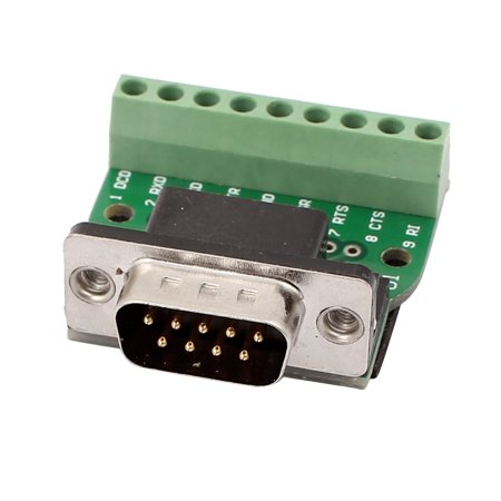 DB9 RS232 Serial Male Adapter Plate 9Positions Terminal Connector Signal  Module