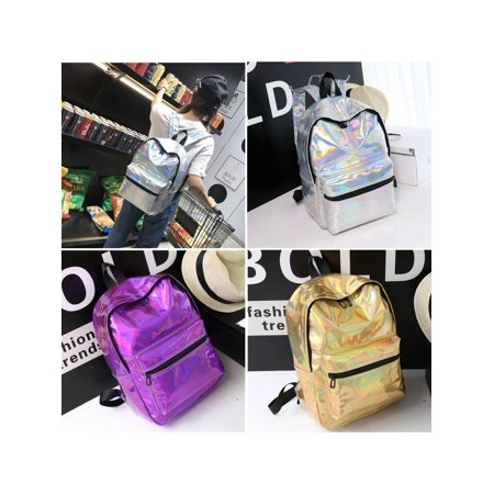 Backpack Purse Tote - Women Girls Laser Holographic Backpack School Shoulder Bag Tote Rucksack Satchel