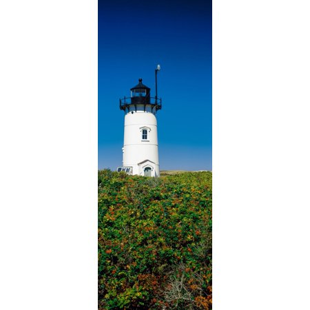 Low Angle View Of A Lighthouse Race Point Light Provincetown Cape Cod Barnstable County Massachusetts Usa Canvas Art   Panoramic Images  7 X 18