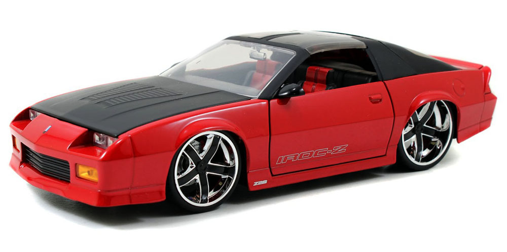 1985 Chevy Camaro w  Removable T-Top, Red Black Jada Toys Bigtime Muscle 91444 1 24 scale... by Jada