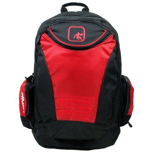And1 Diagonal Zip Red Backpack