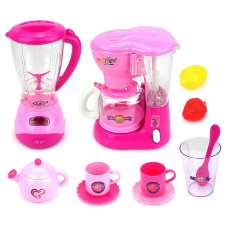Mini Dream Kitchen 2 Pretend Play Toy Kitchen Appliances Playset w/ Blender, Coffee Machine, Accessories Package Includes: Mini Dream Kitchen 2 Pretend Play Toy Kitchen Appliances Playset