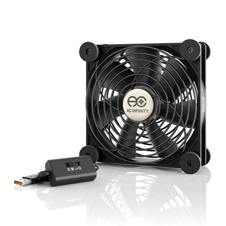 AC Infinity MULTIFAN S3, Quiet 120mm USB Fan for Receiver DVR Playstation Xbox Computer Cabinet (Best 120mm Cpu Fan)