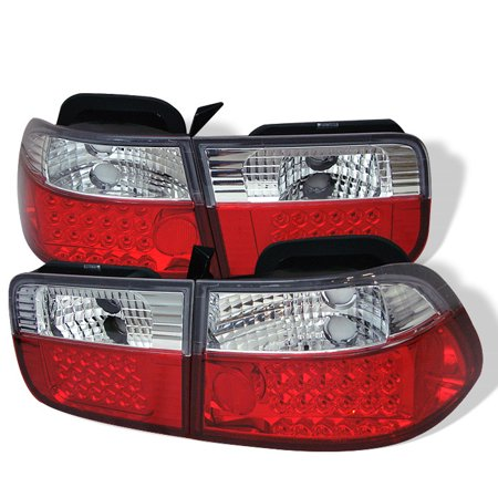 - Spyder Honda Civic 96-00 2Dr LED Tail Lights - Red Clear