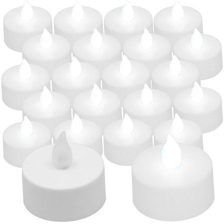 Flickering Tea Lights White  20 pieces](Flickering Fluorescent Light Halloween)