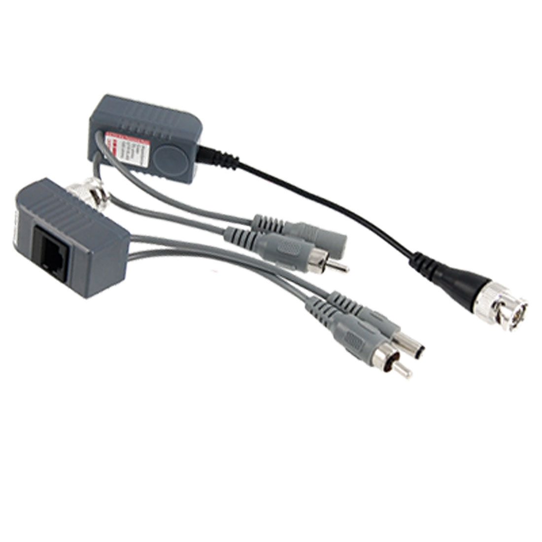 Pair CCTV Audio Power Video Twisted Balun Transceiver
