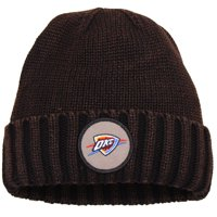Oklahoma City Thunder Mitchell & Ness Current Logo Ribbed Knit Hat - Brown - OSFA