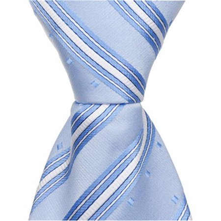 Matching Tie Guy 2399 B7 - 13.75 in. Zipper Necktie - Light Blue With Stripes & Squares, 4T-7 - image 1 of 1