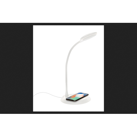 Ihome Lamp - iHome 14.97 in. Gloss White Desk Lamp w/Charging Station