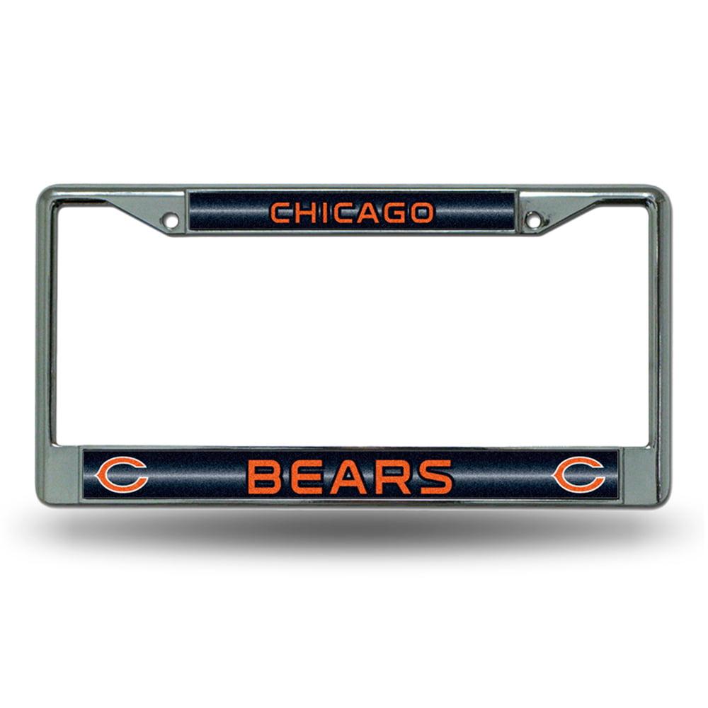 Chicago Bears NFL Bling Glitter Chrome License Plate Frame