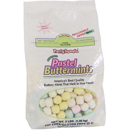 Party Sweets Assorted Pastel Buttermints, 3 lbs