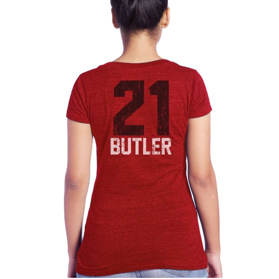 Jimmy Butler Chicago Bulls Majestic Threads Women s Name   Number Tri-Blend  V-Neck T-Shirt - Red - Walmart.com 841ad8cba