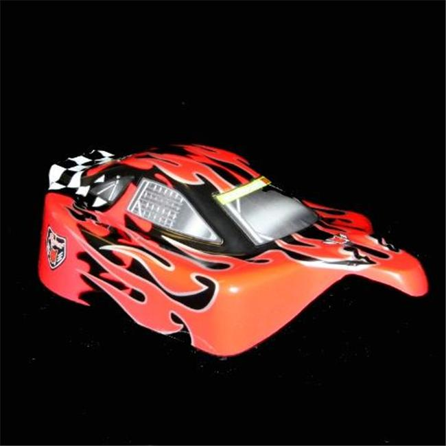 Redcat Racing 66200 0. 1 Buggy Body Red Flame - For Redcat RC Racing Vehicles