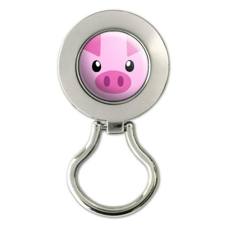 Pig Face - Close-up Farm Animal Magnetic Metal Eyeglass Badge (Face A Face Eyeglasses Discount)
