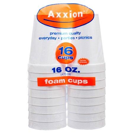 New 369410  Axxion Foam Cups 16 Oz 16 Ct (16-Pack) Plates Cheap Wholesale Discount Bulk Party Supplies Plates Firesale - Styrofoam Planes