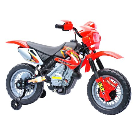 Aosom 6V Kids Ride On Electric Motocross Dirt Bike