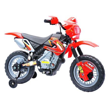 - Aosom 6V Kids Ride On Electric Motocross Dirt Bike