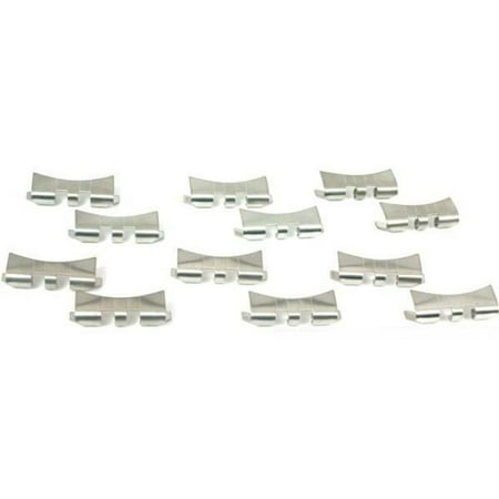 12 Slit Watch Band Ends Pieces Stainless Steel -