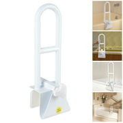 Yescom Adjustable Bathtub Grab Bar Safety Rail Lock to Tub Side Clamp On Handle 440lbs Support for Elderly Handicap