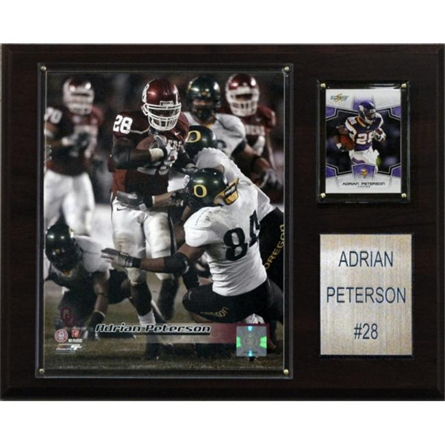 C & I Collectables 1215APETERC NCAA Football Adrian Peterson Oklahoma Sooners Player Plaque