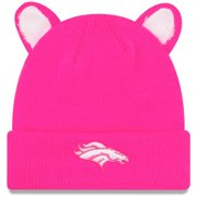 Denver Broncos New Era Girls Toddler Cozy Cutie Cuffed Knit Hat - Pink - OSFA