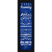 St. Louis Blues Crackle Family Cheer Framed Art - No Size