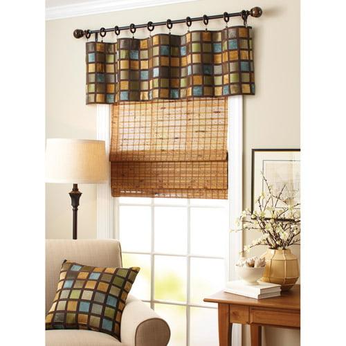 Better Homes and Gardens Windowpane Valance, Blue