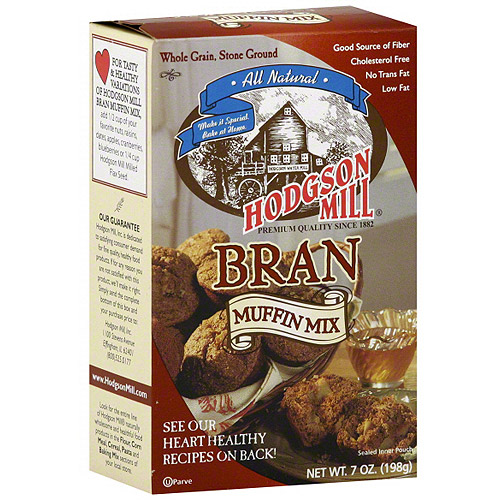 Hodgson Mill Bran Muffin Mix, 7 oz (Pack of 8)