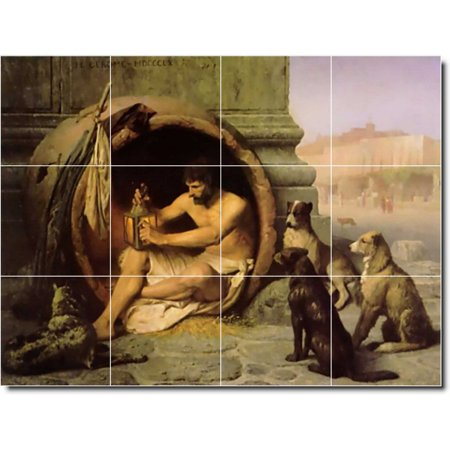 Ceramic Tile Mural Jean Gerome Animals Painting 36 48 w x 36 h using