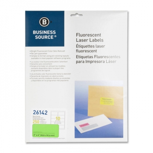 Business Source Fluorescent Laser Label - image 1 of 1