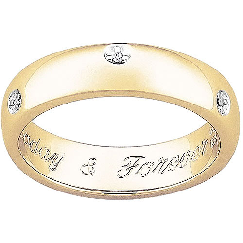 Personalized Engraved Diamond Promise Message Band