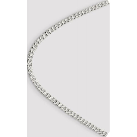 925 Sterling Silver 4.5mm Beveled Curb Chain - image 4 of 5