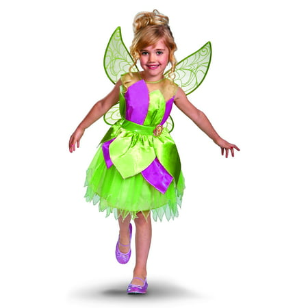 Disney Fairies Tinker Bell Deluxe Girls Costume 3T-4T (3T-4T, One Color)