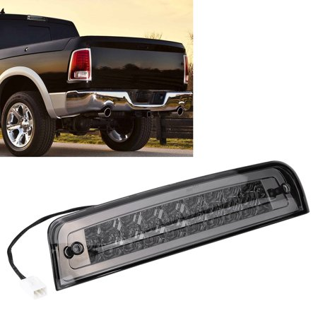 Yosoo Car 3rd Brake Light LED for Dodge Ram 1500 09-17 2500 3500 10-17 55372082AC Chrome&Smoke,Rear Tail Lamp,3rd Brake Lamp - image 1 de 8