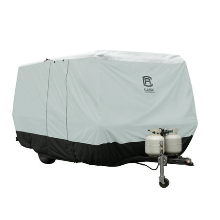 Spy Shield - Classic Accessories 8'-10' Grey Molded Travel Trailer Cover, Skyshield