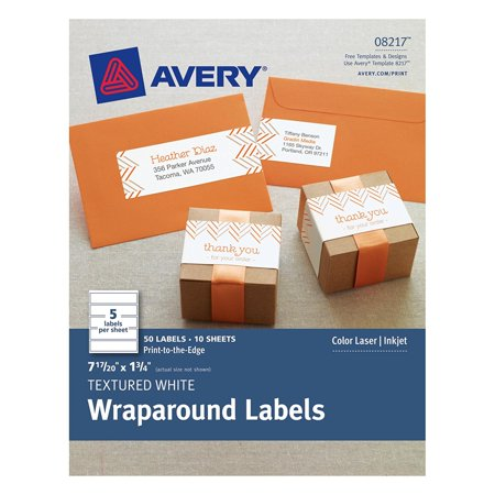 Textured Wraparound Labels White 785 X 175 Inches Pack Of 50