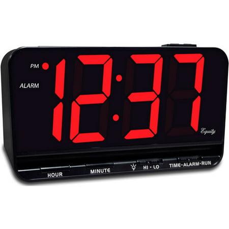 Equity 3 Quot Led Alarm Clock Walmart Com
