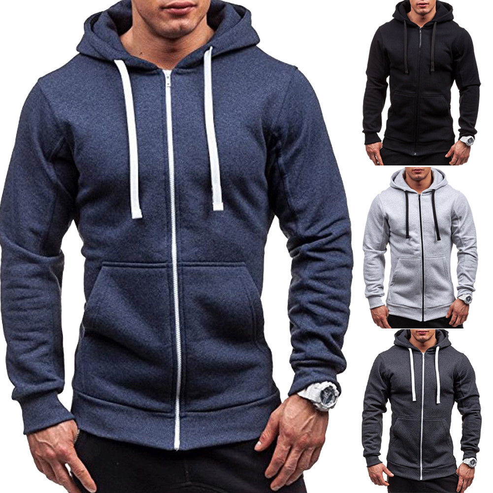 Mens Women's Thick Zip-Up Hoodie w Sherpa Fur Winter Unisex Hooded Jacket Jumper