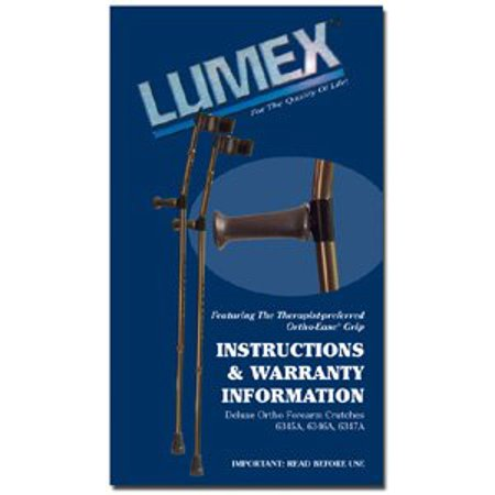 Lumex 6345 Deluxe Ortho Forearm Crutches Large