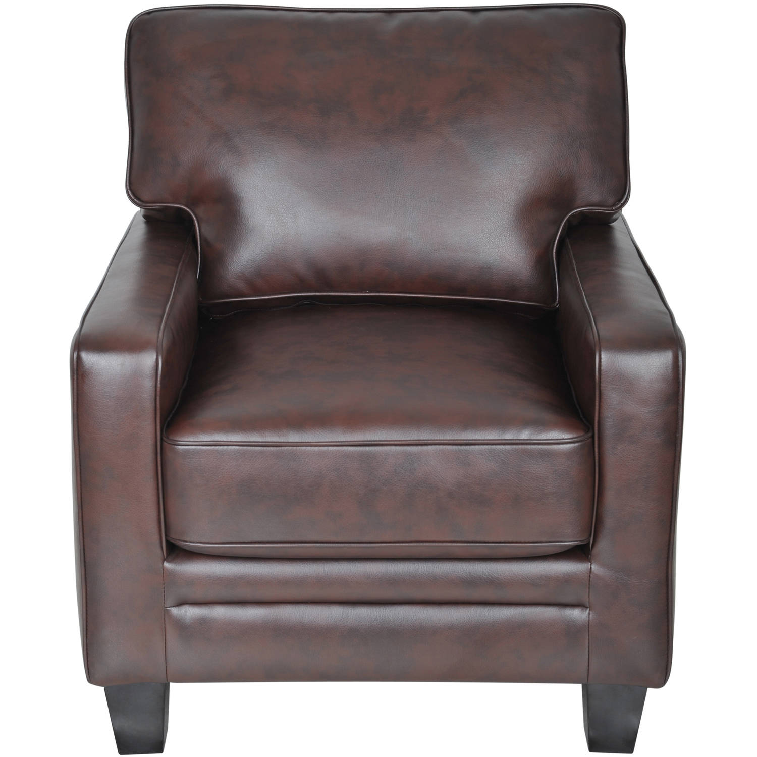 Serta RTA Monaco Collection Accent Chair Brown Bonded Leather