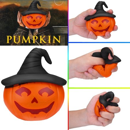 Squishy Circuits Halloween (Smart Novelty Halloween Pumpkin Squishies Slow Rising Kids Toys Stress Relief Toys Hop)
