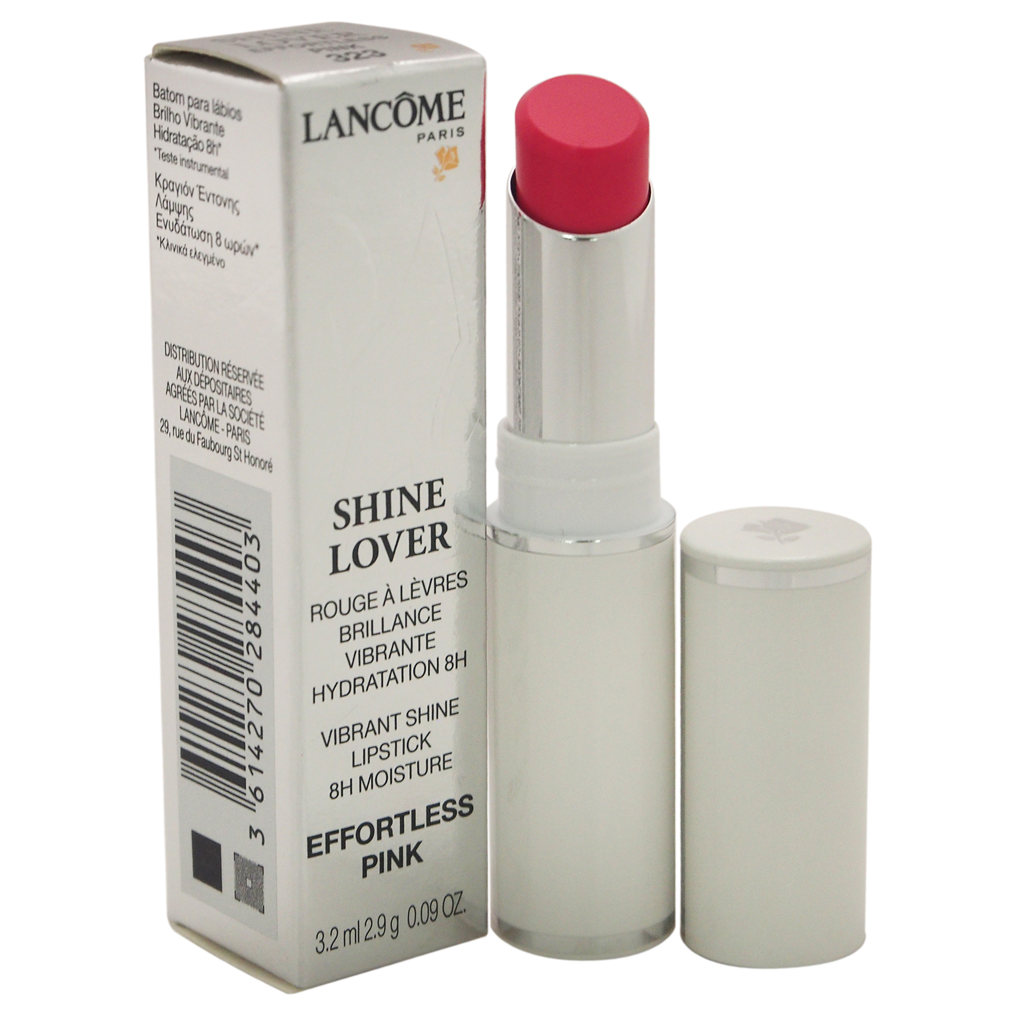 Shine Lover Vibrant Shine Lipstick - # 323 Effortless Pink by Lancome for Women - 0.09 oz Lipstick